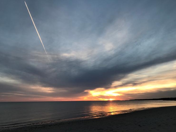 sunset streak
